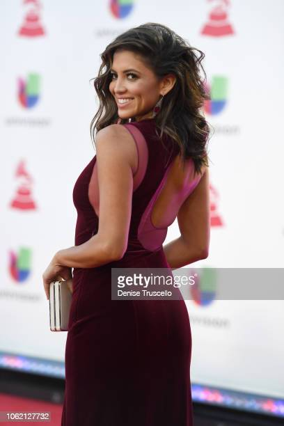 Pamela Silva Conde attends the 19th annual Latin GRAMMY Awards at MGM Grand Garden Arena on November 15 2018 in Las Vegas Nevada