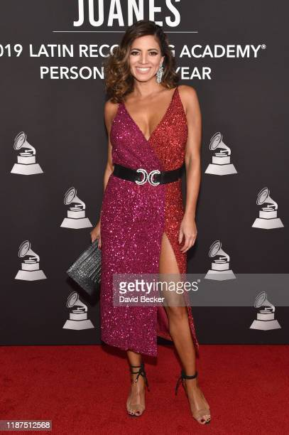 Pamela Silva Conde attends the Latin Recording Academy's 2019 Person of the Year gala honoring Juanes at the Premier Ballroom at MGM Grand Hotel...