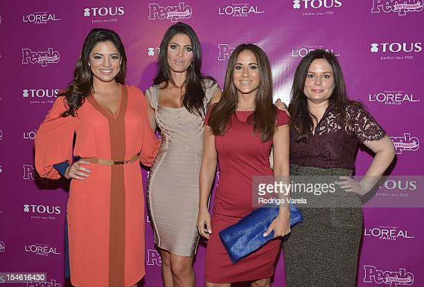 Pamela Silva Conde Chiquinquira Delgado Jackie Guerrido and Jessica Rodriguez attend People En Espanol 25 Most Powerful Women Luncheon at The...