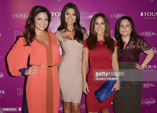 Pamela Silva Conde Chiquinquira Delgado Jackie Guerrido and Jessica Rodriguez attend People En Espanol Celebrates The 25 Most Powerful Women at The...