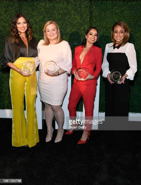 Pamela Silva Conde Cynthia Hudson Rebbeca Marie Gomez and Delia Orjuela attend the Leading Ladies of Entertainment Luncheon during the 19th annual...