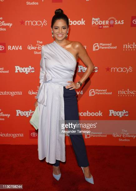 Pamela Silva is seen arriving at the People en Espanol Poderosas Luncheon on March15 2019 in Coral Gables Florida