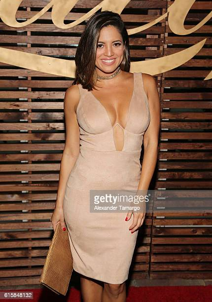 Pamela Silva is seen at a private dinner hosted by TVyNovelas on October 19 2016 in Miami Florida