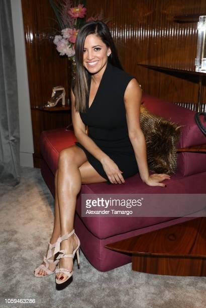 Pamela Silva is seen at the Alexandre Birman Bal Harbor Store Opening Event on November 8 2018 in Miami Florida