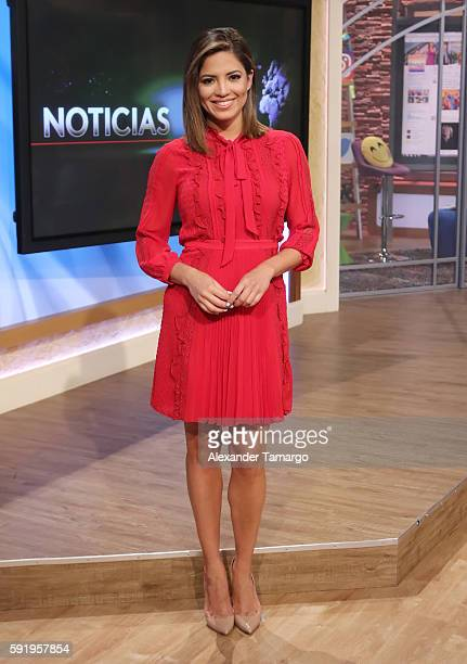 Pamela Silva is seen on the set of 'Despierta America' at Univision Studios on August 19 2016 in Miami Florida
