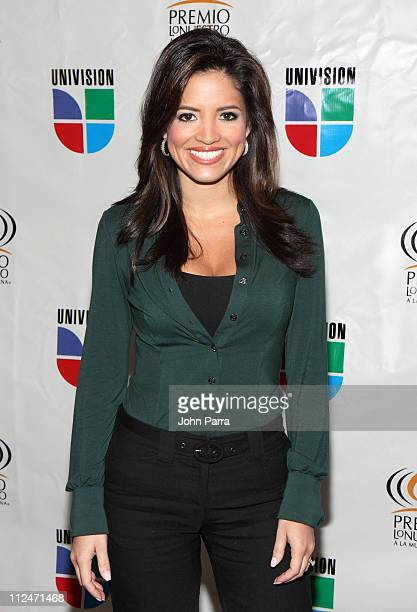 Pamela Silva poses at Univision Studios during the announcement of the nominees for the 2009 Premio Lo Nuestro awards show on January 14 2009 in...
