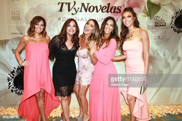 Pamela SilvaConde Alexandra Malagon Catherine Siachoque Gaby Espino and Zuleyka Rivera pose as part of TV y Novelas Divinas y Humanas special edition...
