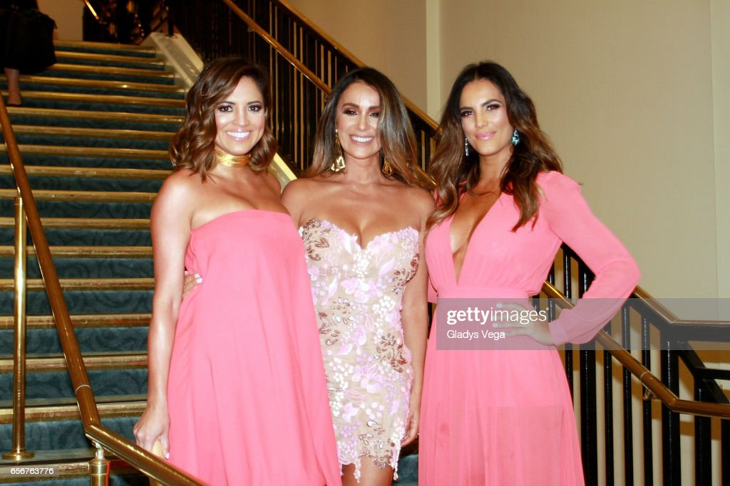 Pamela Silva-Conde, Catherine Siachoque and Gaby Espino pose as part of TV y Novelas, 'Divinas y Humanas' special edition celebration on March 22, 2017 in San Juan, Puerto Rico.