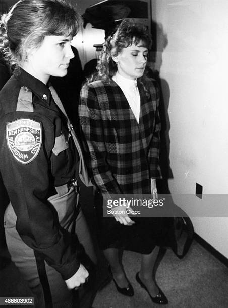 Pamela Smart at Rockingham County Superior Court during jury deliberations in her murder trial in Exeter NH on March 22 1991 Smart was convicted of...