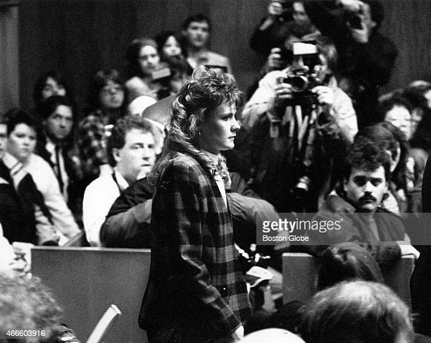 Pamela Smart enters the Rockingham County Superior Court courtroom in Exeter NH for the verdict in her trial on March 22 1991 Smart was convicted of...