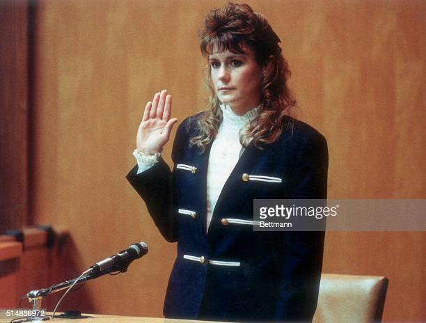 Pamela Smart gets sworn in before testifying in her own defense in Rockingham County Court Smart a former high school teacher is charged with...