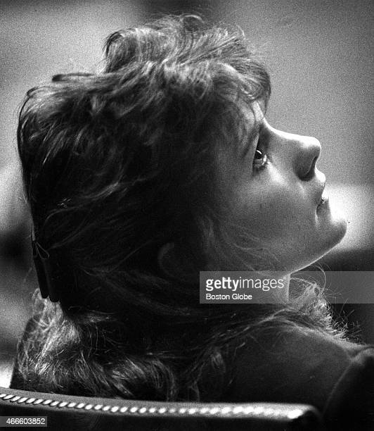 Pamela Smart glances up at her lawyer, during her trial at the Rockingham County Superior Court in Exeter, N.H. On March 11, 1991. Smart is being...