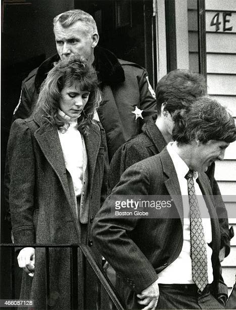 Pamela Smart leaves the Derry NH apartment where her husband was killed The jury toured the murder scene as the trial continues