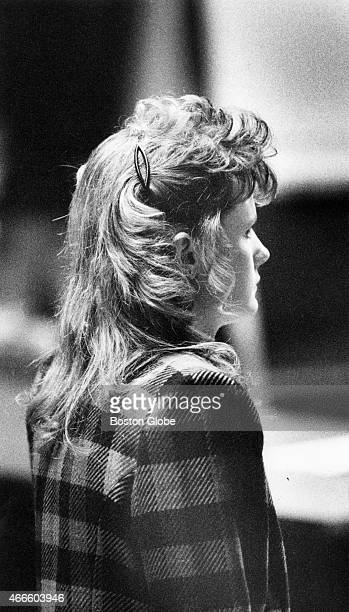 Pamela Smart stands motionless as the jury pronounces her guilty on all three counts at the Rockingham County Superior Court in Exeter, N.H. On March...