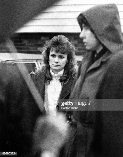 Pamela Smart stands outside her former home on Misty Morning Drive in Derry NH where her husband was killed in 1990 while the Rockingham County jury...