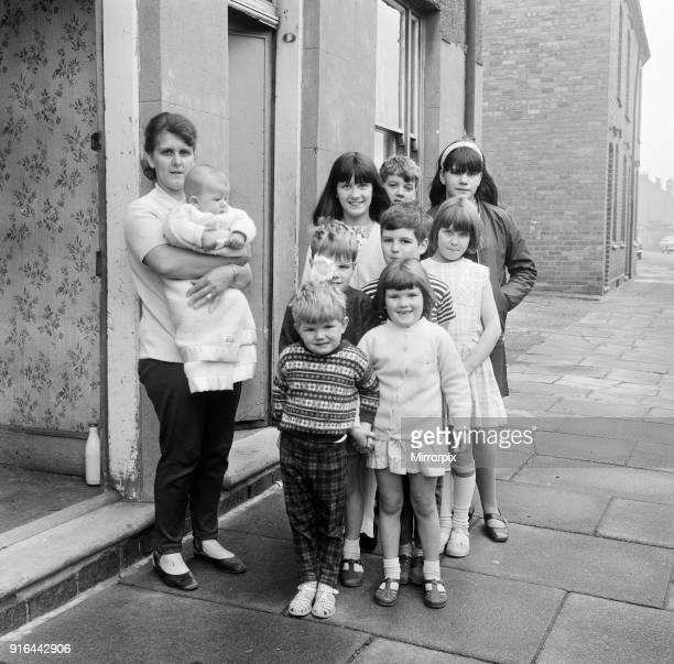 Pamela Spence and family from Greenway Street Small Heath Birmingham 25th September 1969