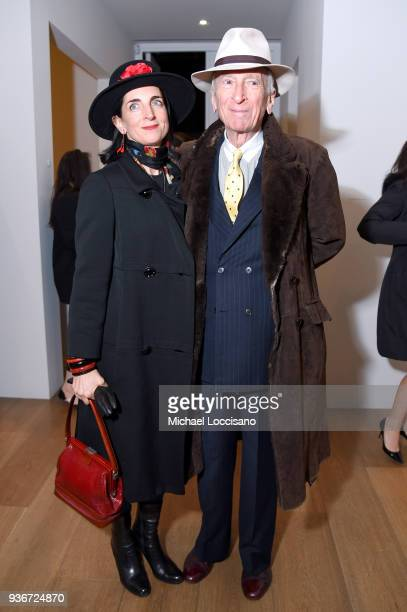 """Pamela Talese and Writer Gay Talese attend the """"Final Portrait"""" New York Screening After Party at Levy Gorvy Gallery on March 22, 2018 in New York..."""