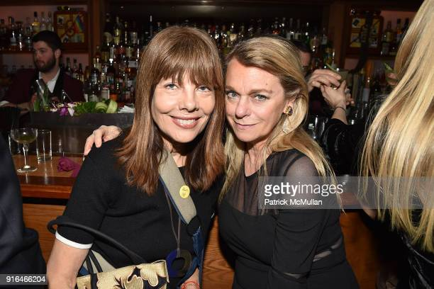 Pamela Taylor Yates and Debbie Bancroft attend the Nicole Miller Fall 2018 Runway Show After Party at Slowly Shirley on February 9 2018 in New York...