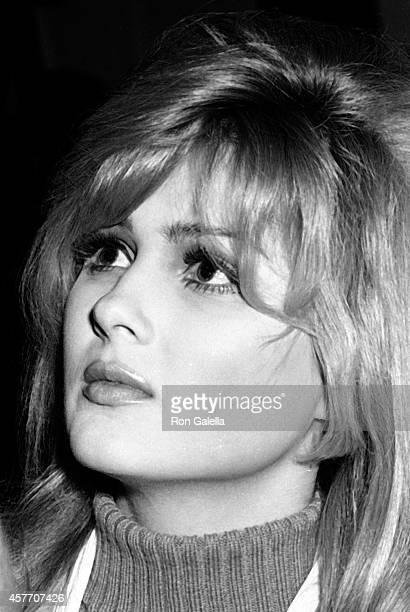 Pamela Tiffin attends Film Critics Awards on January 29, 1967 at Sardi's Restaurant in New York City.