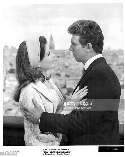 Pamela Tiffin embraces Anthony Franciosa in a scene from the film 'The Pleasure Seekers', 1964.