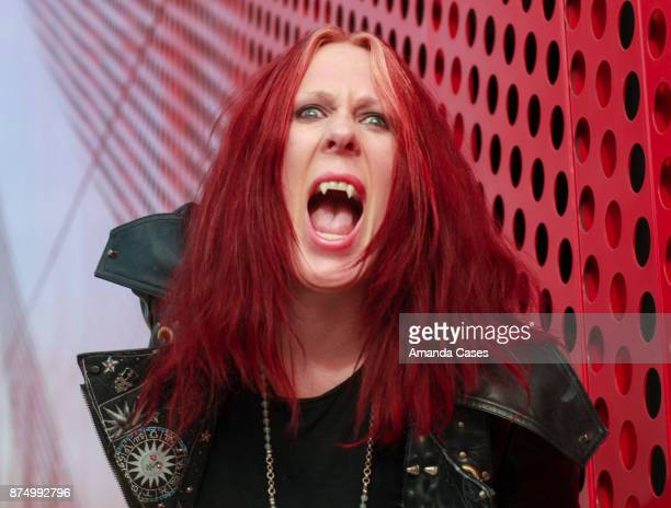 Pamela Vanderveld creator of Vampire Rockstar poses for portraits at A Day of Inspiration at TAP The Artists Project on November 15 2017 in Los...