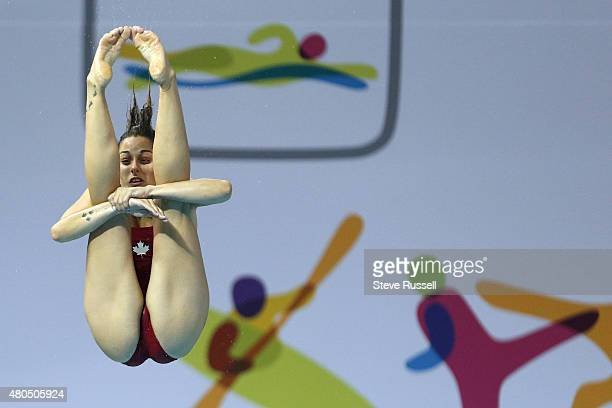 TORONTO ON JULY 12 Pamela Ware somersaults in the pike position Ware would qualify third in the women's 3 metre springboard diving preliminaries the...