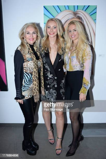 Pamela Wright Alexandra Houx Grounds and Aubrie Wienholt attend Delusions of the Wild Solo Exhibition By Alexandra Houx Grounds at 213 Bowery on...