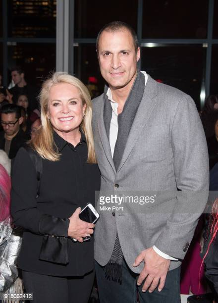 Pamella Roland and Nigel Barker attend The Blonds fashion show during New York Fashion Week The Shows at Spring Studios on February 13 2018 in New...