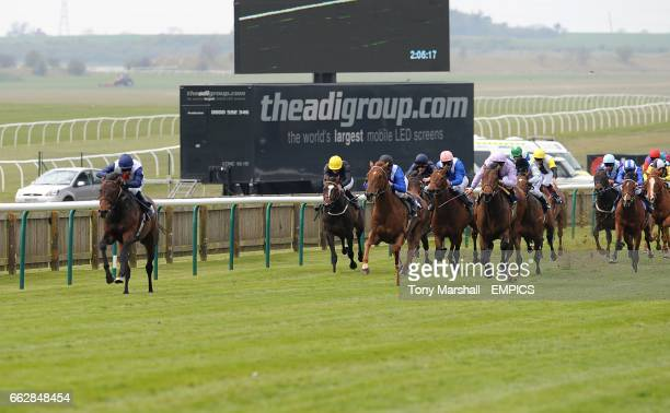 Pampas Cat ridden by Jimmy Fortune leads the field on his way to winning the Federation Of Bloodstock Agents Maiden Stakes