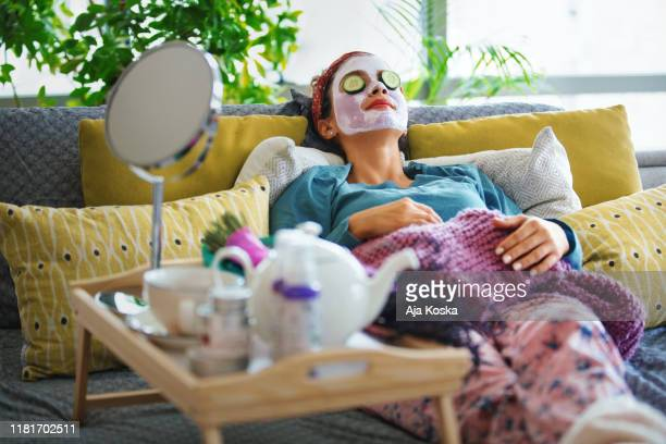 pampering myself on weekends. - relaxation stock pictures, royalty-free photos & images