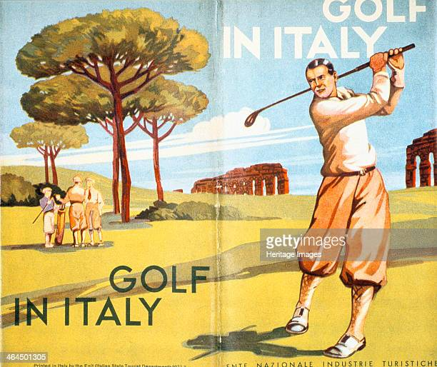 Pamphlet advertising golf in Italy 1932