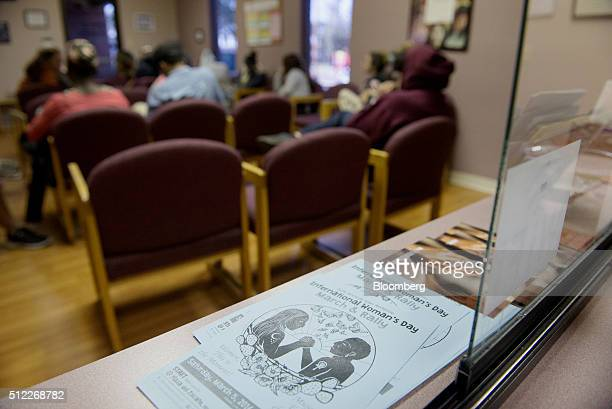 Pamphlets sit in the waiting area at the Whole Woman's Health abortion clinic in San Antonio Texas on Tuesday Feb 16 2016 The clinic's simplicity...