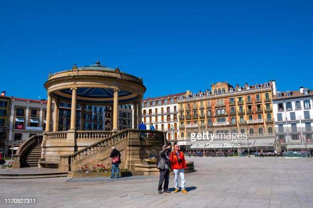 pamplona castle square - pamplona stock pictures, royalty-free photos & images