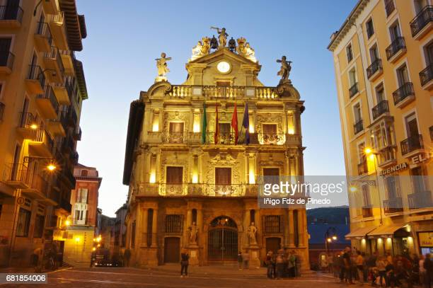 pamplona city hall- pamplona- navarre- spain - pamplona stock photos and pictures