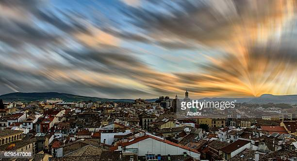 pamplona from the heights - pamplona stock photos and pictures