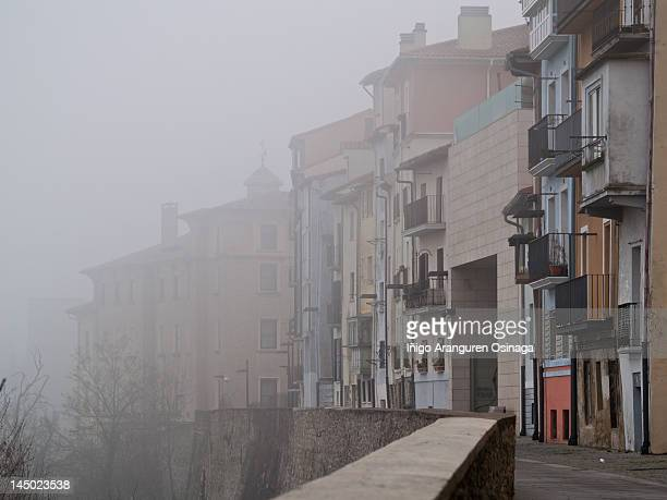 Pamplona in the fog
