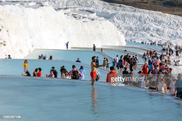 pamukkale, denizli, turkey - terraced field stock pictures, royalty-free photos & images