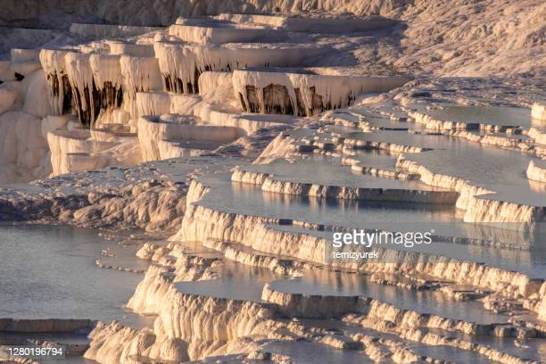 pamukkale - chalk rock stock pictures, royalty-free photos & images