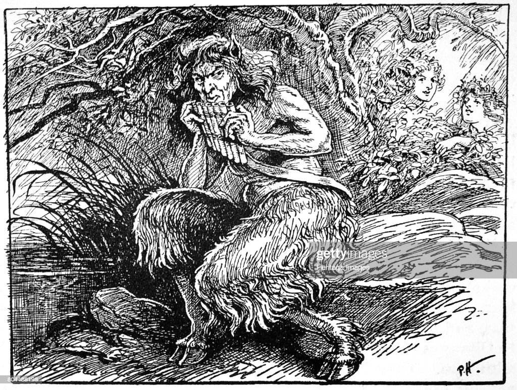 Pan From 'The Book Of Myths' By Amy Cruse 1925 : News Photo