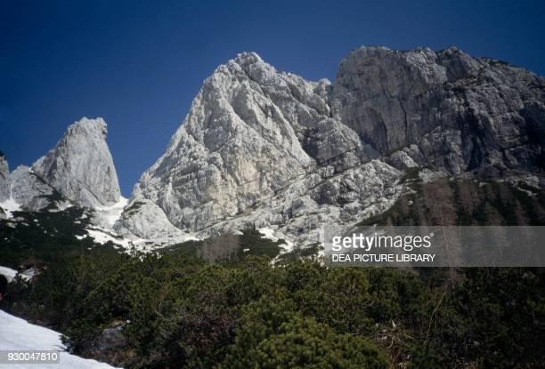 Pan di ZuccheroZuckerhuetl and Vetta BellaLepa glava peak Julian Alps FriuliVenezia Giulia Italy