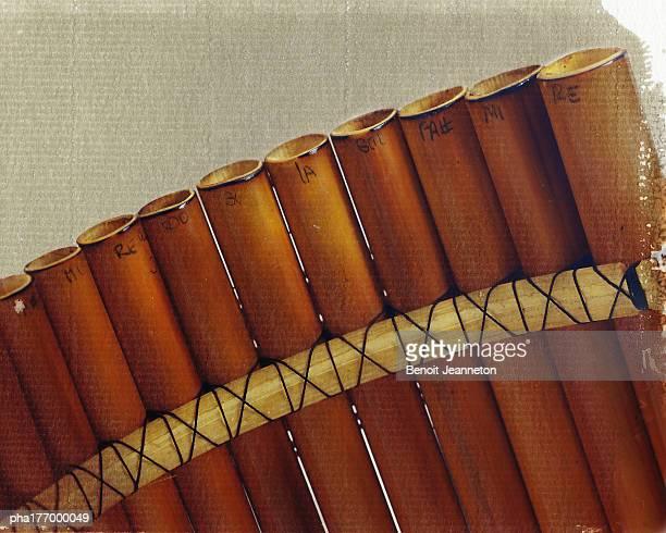 Pan flute, close-up