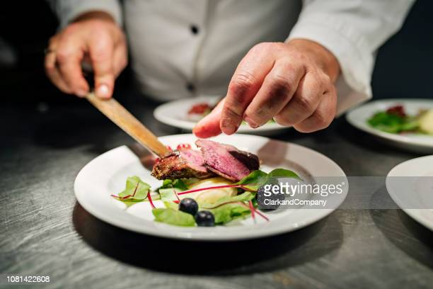 pan fried duck. - denmark stock pictures, royalty-free photos & images