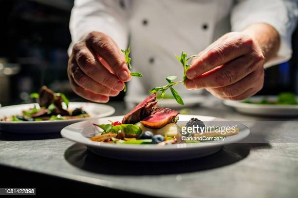 pan fried duck. - preparation stock pictures, royalty-free photos & images