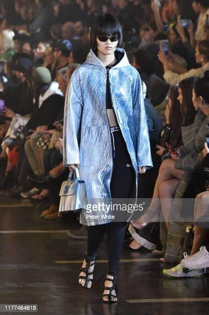 Pan Hao Wen walks the runway during the Off-White Womenswear Spring/Summer 2020 show as part of Paris Fashion Week on September 26, 2019 in Paris,...