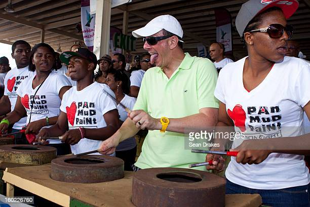 Pan Mud Paint steelband performs at Panorama semifinals at Queen's Park Savannah in Port of Spain Trinidad and Tobago on January 27 2013 Carnival in...