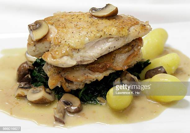 Pan roasted chicken Marsala sauce sauteed garlic spinach fingerling potatoes Restaurant review of new place Maximiliano in Highland Park on Dec 22...