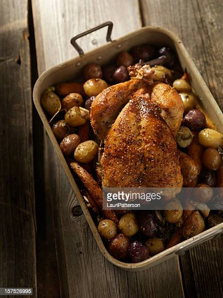 Pan Roasted Chicken with Carrots and Potatoes