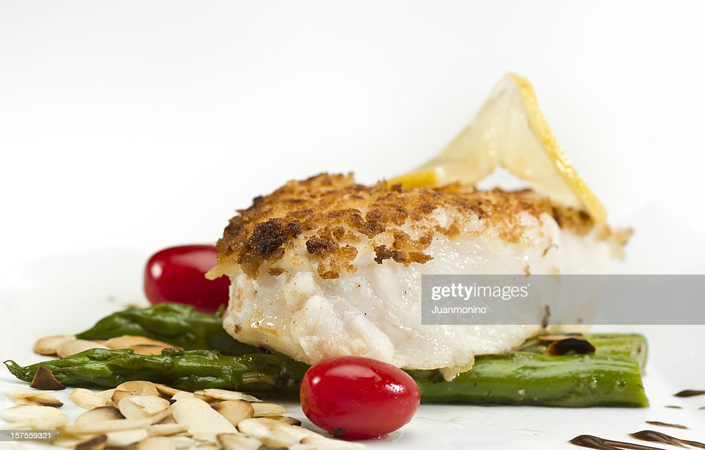 Pan Roasted Fillet of Fish : Stock Photo