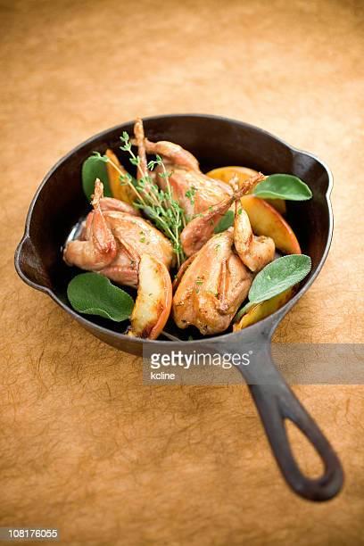 Pan caille rôtie