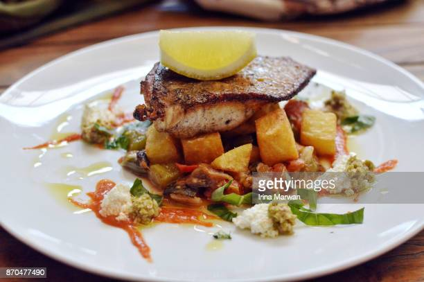 Pan Seared Barramundi Fish